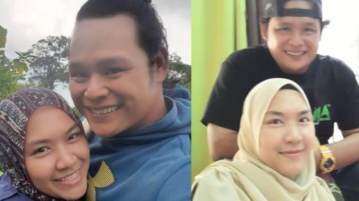 Mendiang Siti Faiqah bersama sang suami
