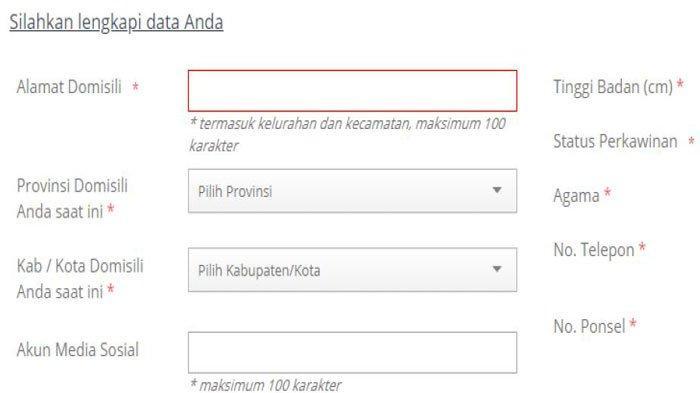 Cara Mengisi Akun Media Sosial Pendaftaran CPNS dan PPPK di SSCN 2021, Jangan Sampai Salah