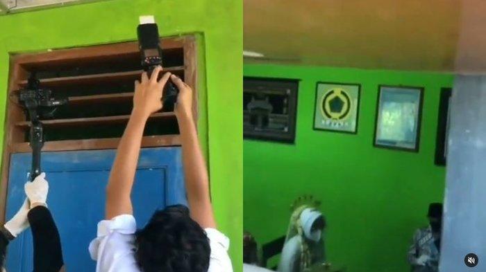 Video Viral Fotografer dan Kameramen Harus Rekam Akad Nikah dari Celah Pintu Karena PPKM Darurat