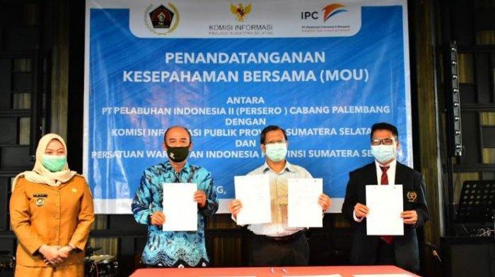 Mengedepankan Prinsip Keterbukaan Informasi, IPC Palembang MoU dengan KIP Sumsel dan PWI