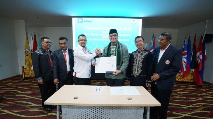 Libatkan Mahasiswa Dalam Event Olahraga, Poltekpar Palembang- Ketua Umum KONI Sumsel Teken MoU