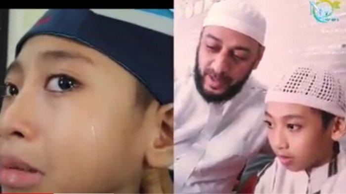 Naja Hudia, Hafiz Qur'an Cilik tak henti menangis atas meninggalnya Syekh Ali Jaber