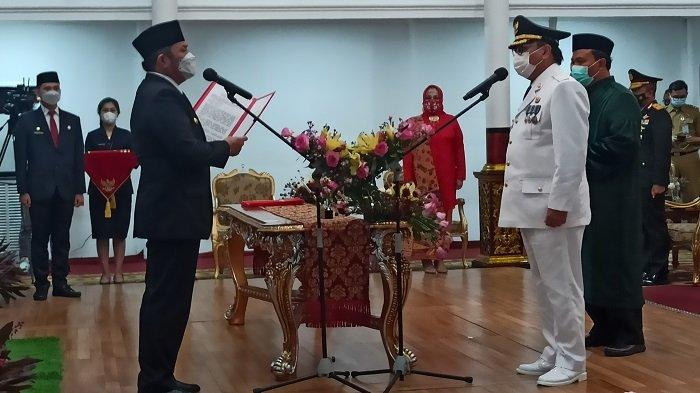 Gubernur Sumsel Herman Deru Lantik Nasrun Umar Jadi Pj Bupati Muara Enim