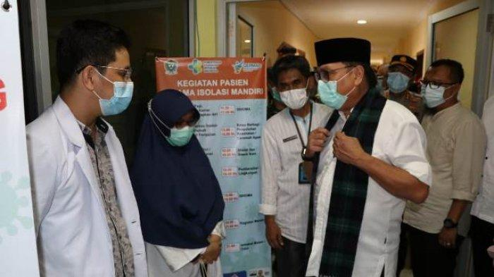 Pj Bupati Muara Enim Cek Kondisi Rumah Isolasi Covid-19 di Islamic Center