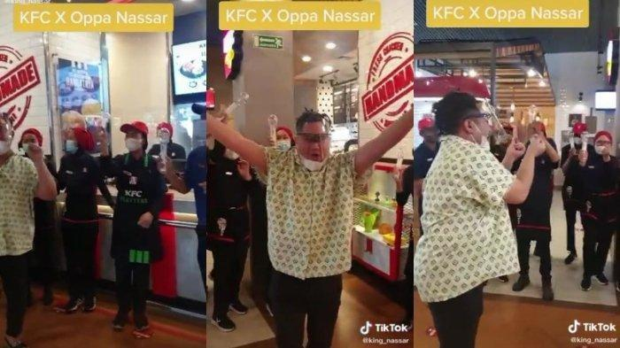 Nassar heboh berjoget saat kolaborasi dengan KFC