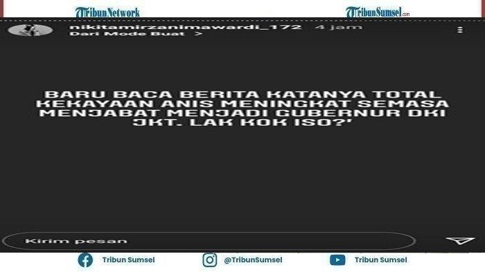 Nikita Mirzani Sindir Kekayaan Gubernur Anies Baswedan Meningkat Saat Pandemi.