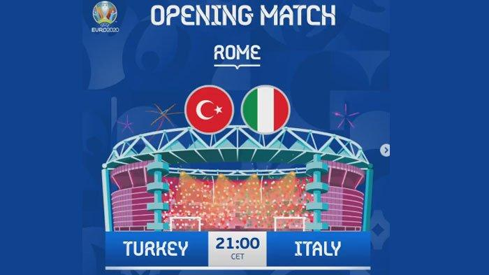 Nonton Live Streaming Opening Ceremony Piala Euro 2020 dan Turkey vs Italia Malam Ini, Link di Sini