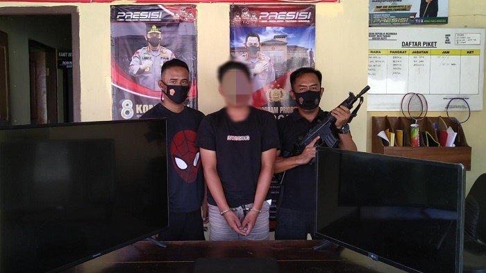 Oknum Anggota Satpol PP Maling TV dan Laptop di Kantor Bupati Saat Piket Jaga