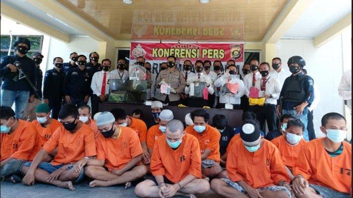 Polres Muara Enim Amankan 25 Pelaku 3C Selama Operasi Sikat Musi 2021