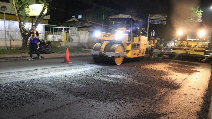 Pengaspalan Lima Ruas Jalan Nasional di Palembang Pakai Metode Aspal Karet