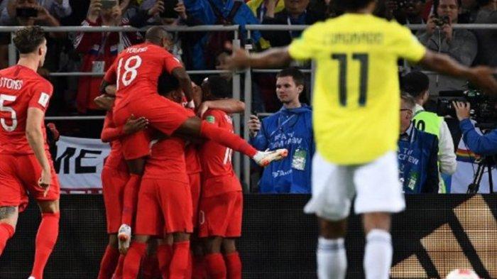Hasil Piala Dunia 2018 - Inggris Lolos ke Perempat Final Usai Kalahkan Kolombia Lewat Adu Penalti