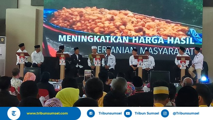 Paslon Bupati dan Wakil Bupati Banyuasin Adu Program di Debat Pertama Kandidat