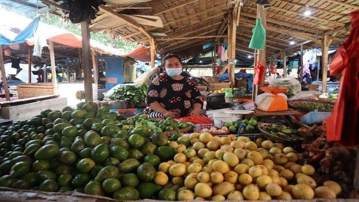 OKU Selatan Berlakukan  PPKM, Pedagang Pasar Tadisional Saka Selabung Mengeluh