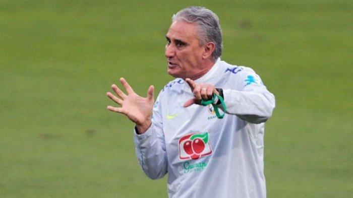 Pelatih tim nasional Brasil, Tite.