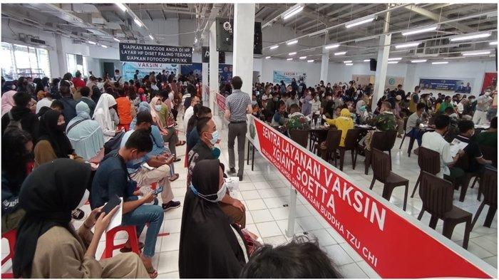 Sentra Vaksin Ex Giant Soekarno Hatta Palembang Gelar Vaksinasi Dosis 2, Sehari Target 2000 Warga