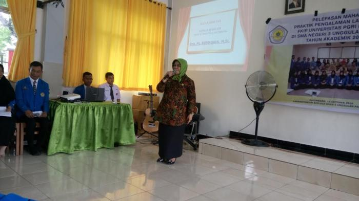 Pelepasan Mahasiswa PPL FKIP Universitas PGRI Palembang di SMANTA