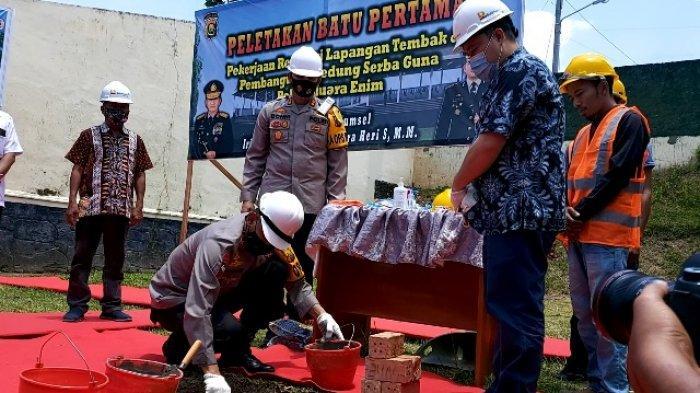 CSR PTBA Bangun Gedung Serba Guna dan Lapangan Tembak Polres Muara Enim