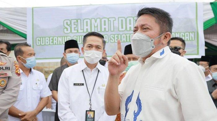 Gubernur Herman Deru Konsisten Larang Bangun Masjid Minta Sumbangan Dijalan