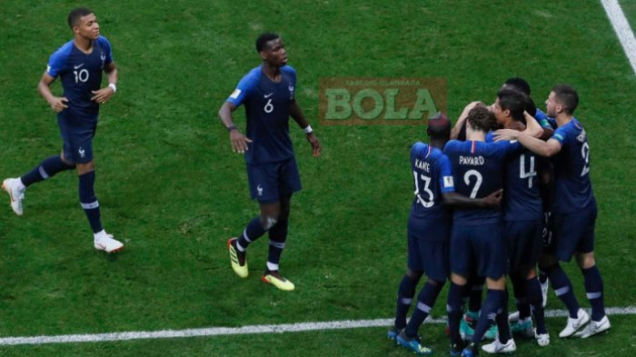 Final Piala Dunia 2018 Prancis Vs Kroasia - Gol Paul Pogba Bikin Prancis Menjauh dari Kroasia 3-1