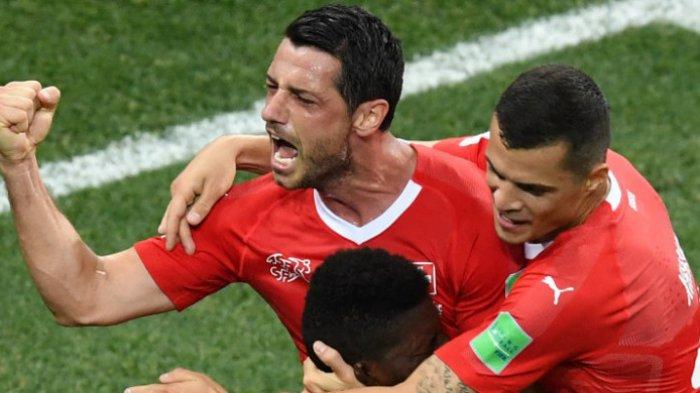Piala Dunia 2018 Rusia - Ditahan Imbang Kosta Rika, Swiss Tetap Lolos Temani Brasil di Grup E