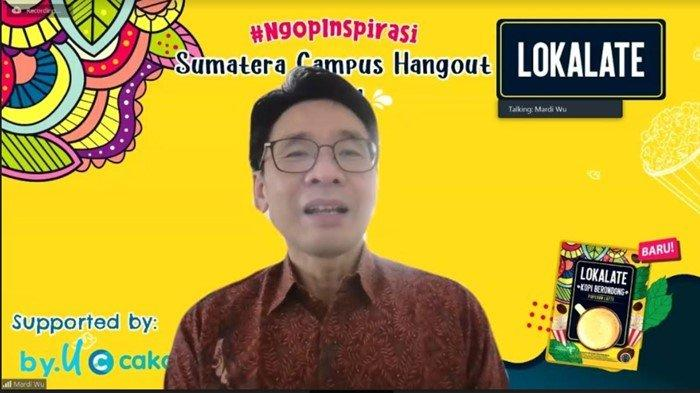 Pembicara webinar LOKALATE NgopInspirasi Sumatera Campus Hangout 2021.