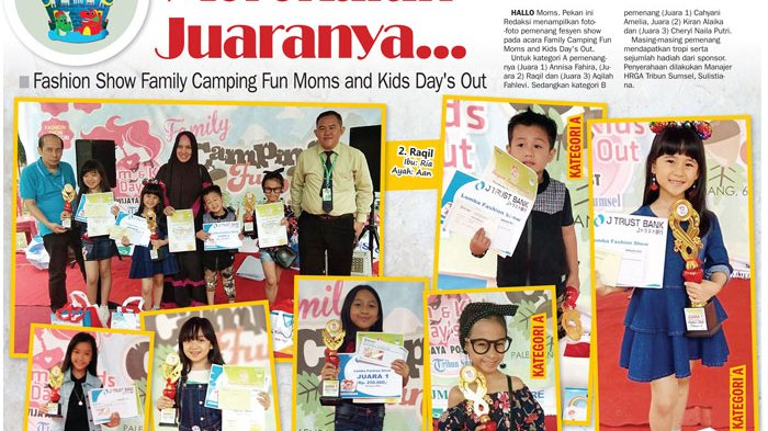 Ini Loh, Juara Fashion Show Family Camping Fun Moms and Kids Day's Out