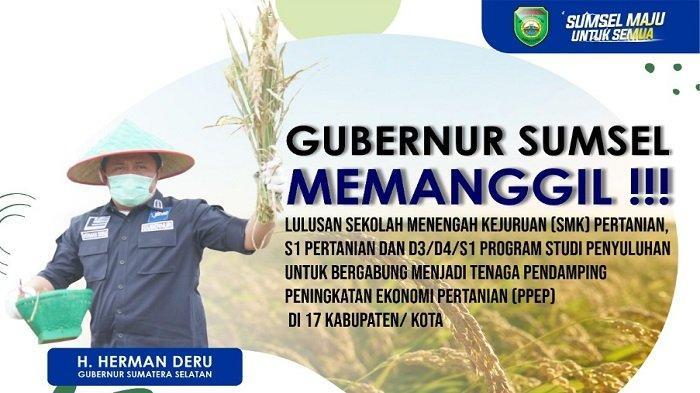 Gubernur Herman Deru Memanggil Putra-Putri Terbaik untuk Majukan Sektor Pertanian