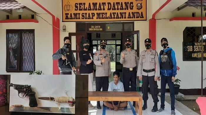 Bawa Senpi Rakitan dan Sebilah Pisau di Saku Celana, Pemuda Lempuing Jaya OKI Ditangkap Polisi