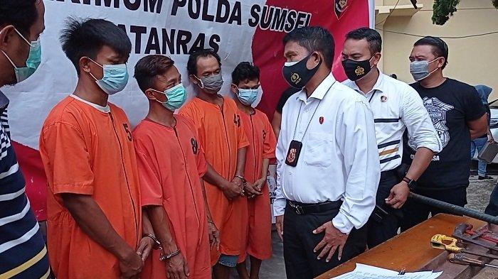 5 Pencuri Besi di Gudang 16 Ilir Palembang Diringkus Jatanras, Kerugian Rp 100 Juta