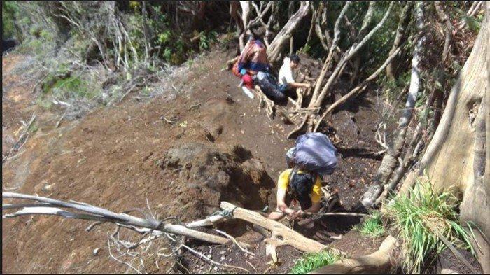 Jalur Pendakian ke Gunung Dempo Longsor di Pintu Rimba, Kedalaman 30 Meter, Sisi Kiri Kanan Jurang