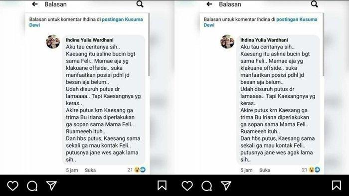 Pengakuan orang terdekat Kaesang Pangarep dan Nadya Afrita terkait tabiat ibu Felicia Tissue