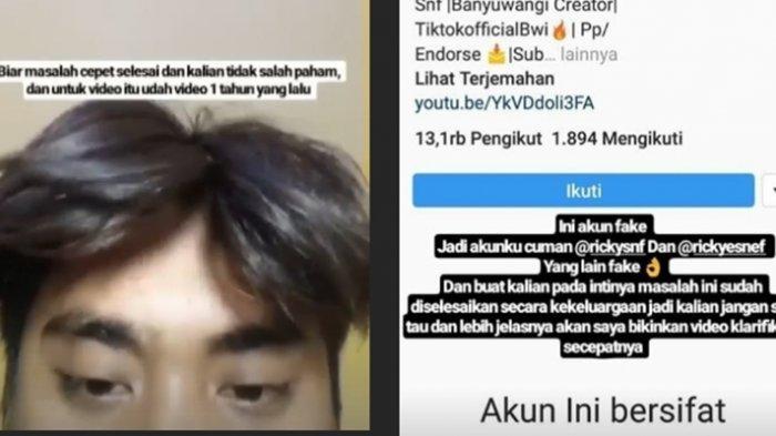 Video Mesum Banyuwangi Viral Ini Pengakuan Pemeran Pria Di Instagram Minta Netizen Jangan Sok Tau Halaman All Tribun Sumsel