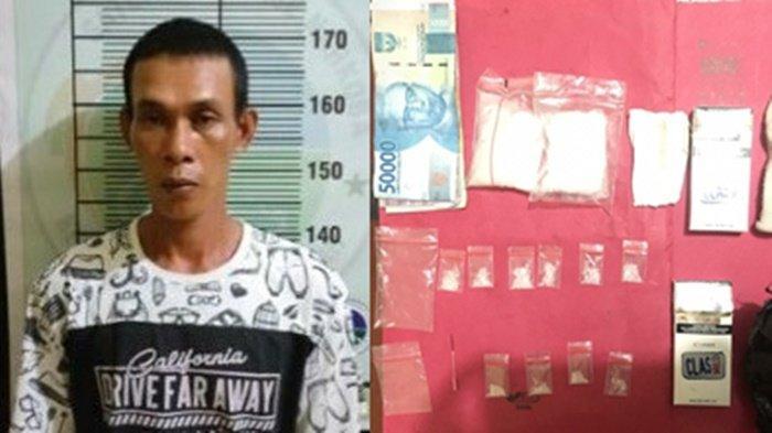 Nekat Buka Lapak Narkoba di Tengah Desa, Pria asal Lubuk Keliat Ditangkap Polisi