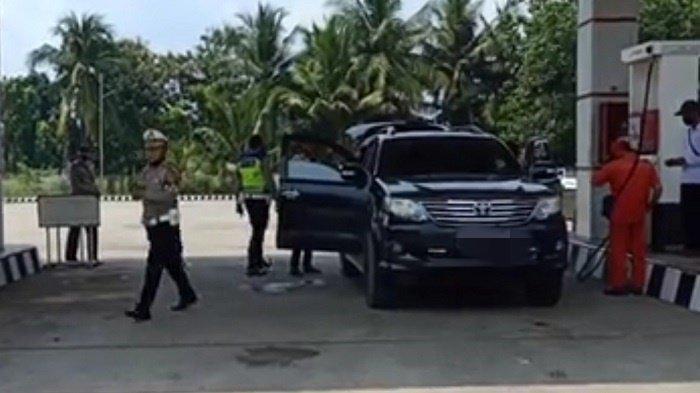 Fortuner Plat Lampung Coba Kelabui Petugas Sekat OKI Masuk SPBU,  Begini Akhirnya