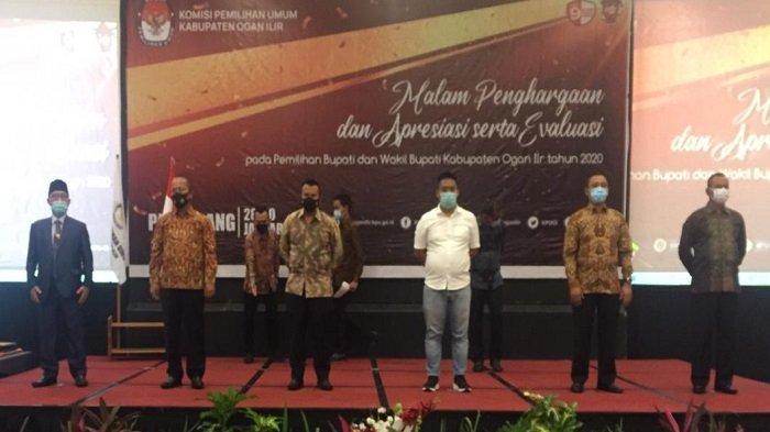 Polres Ogan Ilir mendapat penghargaan berlangsung di Hotel Harper, Jalan R. Soekamto, Palembang