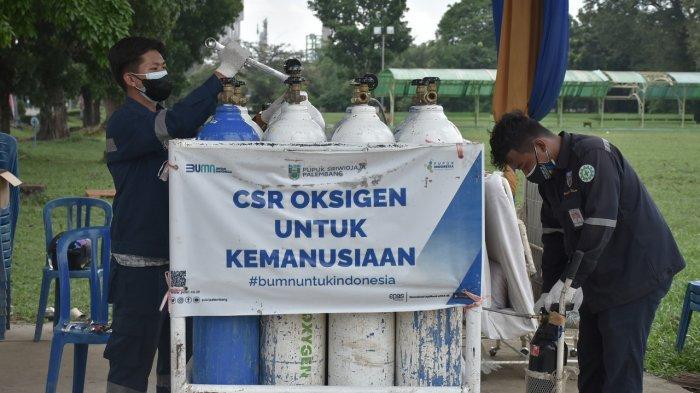 6000 Lebih Masyarakat Peroleh Oksigen Gratis dari Pusri