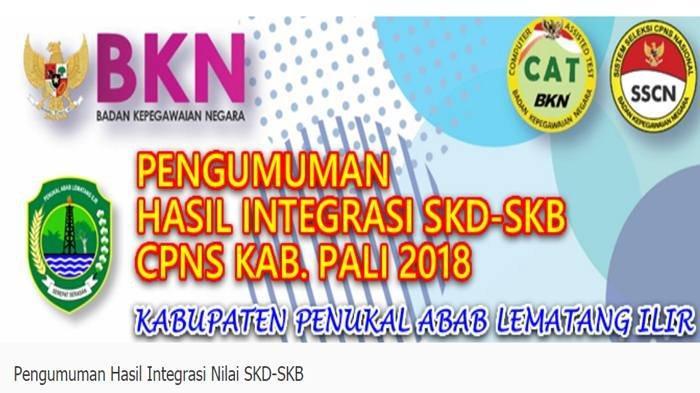Pengumuman Kelulusan Akhir Seleksi CPNS 2018 Kabupaten PALI, Download PDFnya di Sini