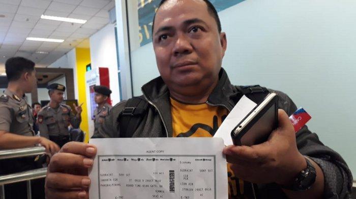 Selamat dari Kecelakaan Pesawat Lion Air Karna Terlambat ke Bandara, Sony Setiawan Sampai Nangis