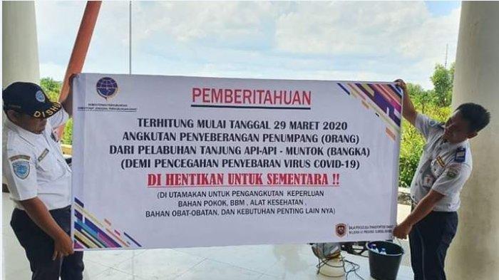 Penerbangan Palembang Bangka Belitung Ditutup, Penyeberangan TAA ke Muntok Ditutup