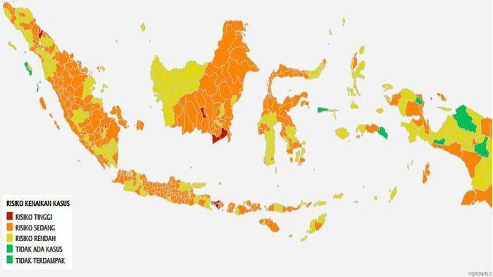 Sepekan PPKM Mikro di Sumsel : Palembang Jadi Zona Merah, 12 Kabupaten/Kota Zona Oranye
