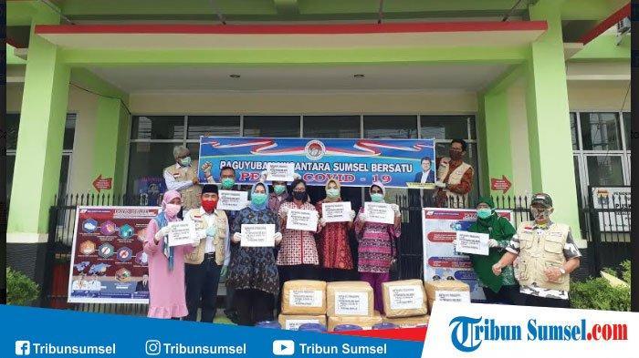 Bantuan Corona Palembang, PNSB Salurkan APD dan Disinfektan ke Puskesmas di Palembang