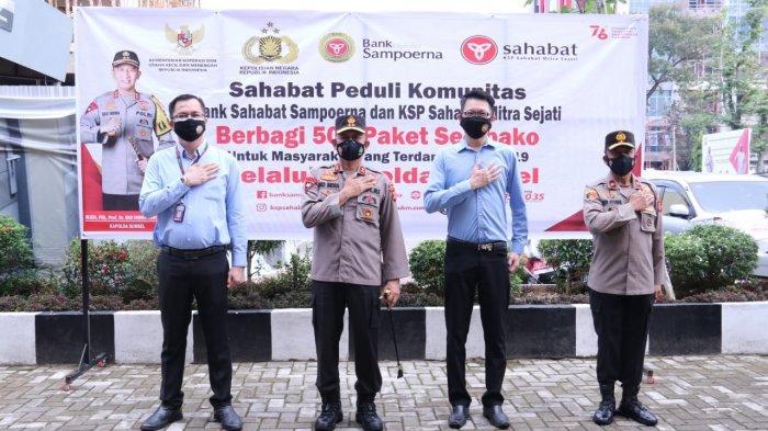 Polda Sumsel Terima Bantuan Paket Sembako dari Bank Sahabat SempurnaUntuk Masyarakat