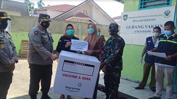 Dinkes Sumsel Kembali Terima 208.700 Dosis Vaksin Covid-19, Untuk Uji Coba 1 Juta Vaksin