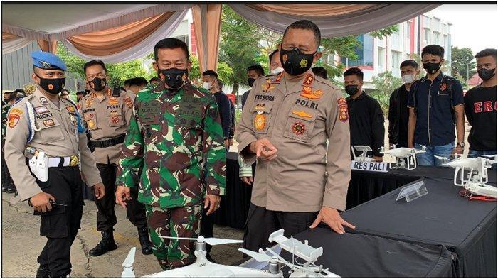 Kapolda Sumsel  Drone Squard Karhutla dan Buka Pelatihan Operator Aplikasi Songket