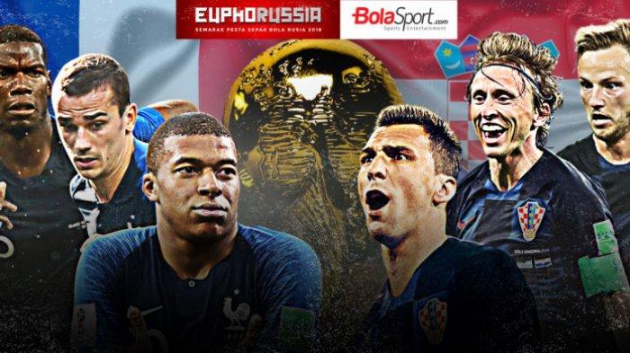 Final Piala Dunia Rusia 2018, Prancis Vs Kroasia Diwarnai dengan Serba Angka 3