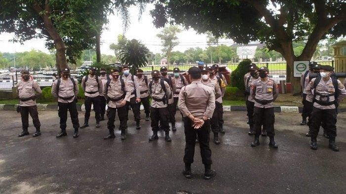 Satu Peleton Personel Polri Polres Prabumulih Diberangkatkan ke Muara Enim