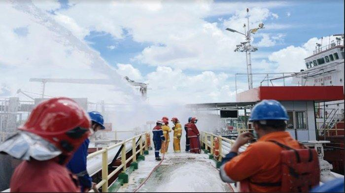 Pertamina Patra Niaga Gelar Simulasi Operasi Keadaan Darurat Level 0 Area Dermaga FT Pangkal Balam