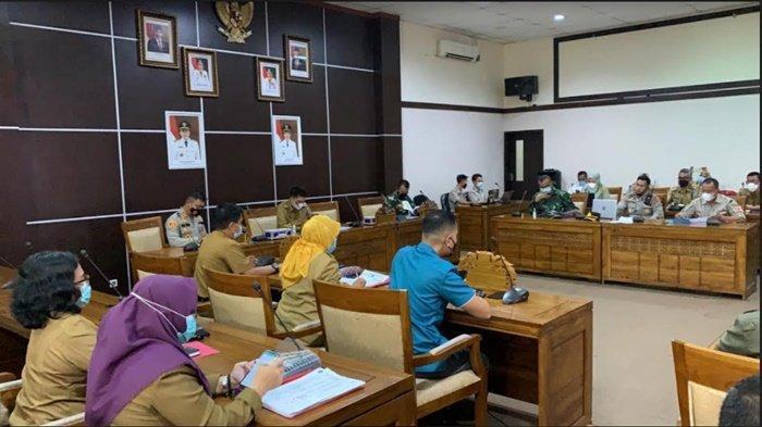 Polres Ogan Ilir Adakan Rapat Penanganan Covid-19 Bersama Pemkab Ogan Ilir