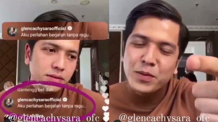 Perubahan ekspresi Rendi Jhon ditanya soal Glenca Chysara saat live instagram