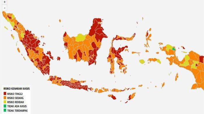 Zona Merah Covid-19 di Sumsel Bertambah Jadi 13 Kabupaten/Kota, Ini Daftarnya